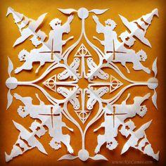Harry Potter Snowflake #1, Handmade Paper Cut Artwork