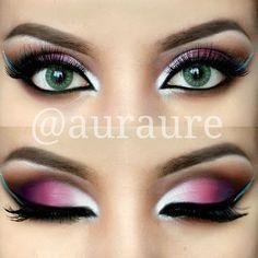 Pink ombre makeup