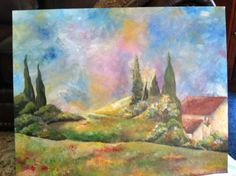 Tuscan painting Painting The Roses Red, Tuscany, Cool Art, Fancy, Spaces, Cool Stuff, Kitchen, Crafts, Inspiration