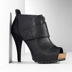 Simply Vera Vera Wang Peep-Toe Platform Shooties - Women #Kohls