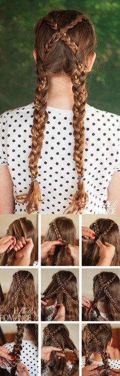 Hair Romance - Back to school hair - tutorial acconciatura trecce incrociate . - Hair Romance - Back to school hair - tutorial acconciatura trecce incrociate schule, Acconciature Back to school - Tutorial trecce incrociate - Hair Romance - Pigtail Hairstyles, Braided Hairstyles Tutorials, Diy Hairstyles, Hair Tutorials, Kids Hairstyle, Latest Hairstyles, Natural Hairstyles, Wedding Hairstyles, Fashion Hairstyles