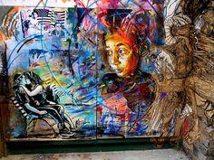 Alice Pasquini, C215 & Swoon - London by C215, via Flickr