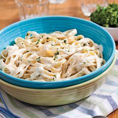 En étapes: la sauce Alfredo - 5 ingredients 15 minutes Sauce Alfredo, Seafood Recipes, Pasta Recipes, Vegetarian Recipes, Pasta Sauces, Food Net, Marinade Sauce, Recipes, Italia