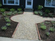 Creating a garden landscaping gravel garden outside the front door