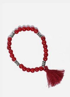Tribal Bead Tassel Bracelet