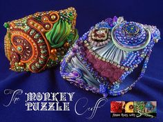 Soutache and Bead Embroidery: Monkey Puzzle Cuff - Bead&Button Show