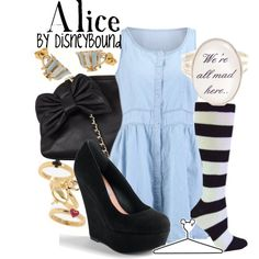 Must. Have. Ring! Alice, created by lalakay on Polyvore disney alice in wonderland