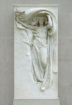 Mourning Victory from the Melvin Memorial, 1906-08, carving 1912-15. Daniel Chester French (American, 1850-1931). Marble. The Metropolitan Museum of Art, New York.