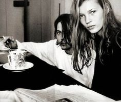 kate moss and johnny depp. there will never be a sexier couple.