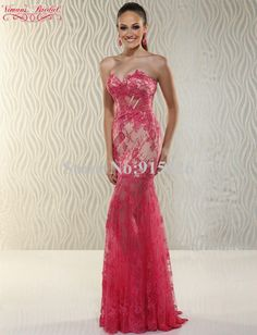 0eceb80897e 2015 Red Sexy Evening Dress Appliques Lace Beading Sweetheart Floor Length  Mermaid Vestido De Renda Free Shipping AN05-in Evening Dresses from  Weddings ...