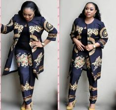 Load image into Gallery viewer, Two Piece African Women& Suit - kats African Dresses For Women, African Attire, African Wear, African Fashion, African Women, African Clothes, Baggy Pants, Party Frocks, Pantsuits For Women
