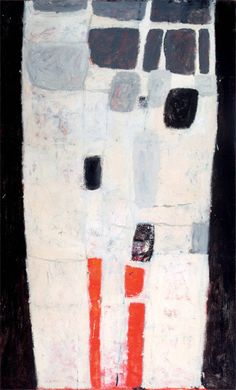 William Scott, Upright Abstract, 1957, Oil on canvas, 168.2 × 102 cm / 66¼ × 40¼ in, Private collection
