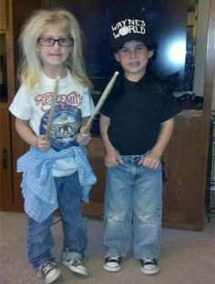 Wayne's World. // I have to wonder if these kids have any idea who they are dressed as.....