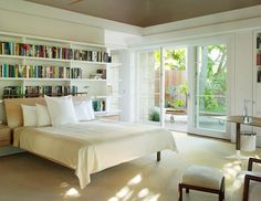 I love to read in bed so this concept is perfect for me. I like the openness of the room created largely by the floor to ceiling windows and the door to the garden. I also like the proportions of the room - generous without being over the top. Well enough about me! What do you think?