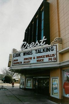 Crest Theater - Wichita, Kansas. Oh my, oh my, how many movies did we see here....and Kirstie Alley is from Wichita!
