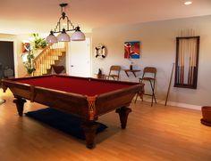 Beautiful billiard room with a 1940 Brunswick pool table