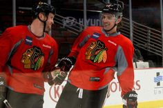 Sharpies happy to be back at practice with his buddy Bicks. I am happy to see him on the ice too!!