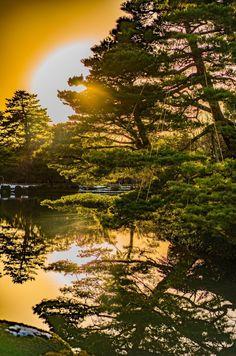 Sunset at Kenrokuen in Kanazawa Japan #Goodmorning