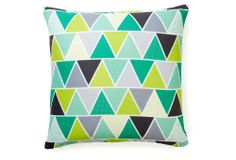 One Kings Lane - Our Best Prices - Tri 20x20 Outdoor Pillow, Emerald