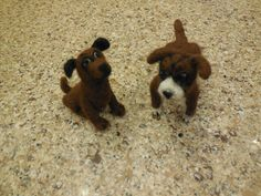 Handmade needle-felted puppy dogs - made from 100% alpaca fiber.