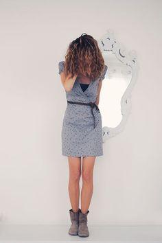 Vanessa Pouzet | Petite robe cousue main : Dress cache-coeur // remember me, tissu atelier brunette
