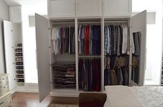 The Happy Homebodies: DIY: How to Build a Wall of Closets From Scratch