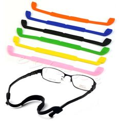 Silicone Eyeglasses Glasses Sunglasses Strap Sports Band Cord Holder For Kids-J117 #CLICK! #clothing, #shoes, #jewelry, #women, #men, #hats, #watches