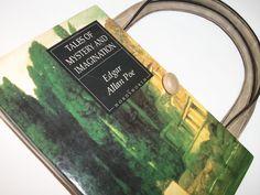 Edgar Allan Poe Book Purse Handmade Womens Handbag, Altered Vintage Recycled Bag, Tales of Mystery and Imagination by retrograndma on Etsy