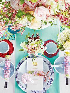 Exotic orchids and other blooms, as well as motifs paired with elegant dinnerware ensure a feast for the eyes - and the appetite.