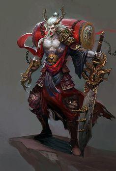 DrawCrowd is a place to fund your creativity. Fantasy Concept Art, Dark Fantasy Art, Fantasy Artwork, Fantasy Races, Fantasy Warrior, Character Concept, Character Art, Fantasy Monster, Creature Concept