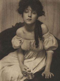 Portrait of Evelyn Nesbit  by Gertrude Kasebier, 1903
