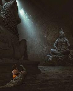 Lord Murugan and Mayura discovered a huge Lord Shiva and Nandi statues in unknown cave near the Himalayas 😧✨. Rudra Shiva, Mahakal Shiva, Shiva Statue, Aghori Shiva, Photos Of Lord Shiva, Lord Shiva Hd Images, Lord Murugan Wallpapers, Lord Shiva Hd Wallpaper, Krishna Wallpaper
