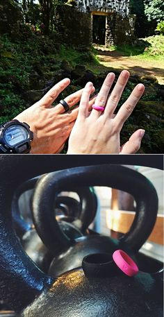 Want people to know you're married, even if you normally take off your ring to work out? This silicone QALO ring is designed for the active lifestyle.
