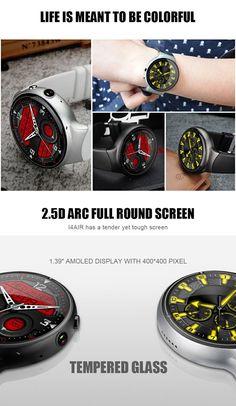 I4 AIR 2G+16G Camera WIFI GPS Sleep Heart Rate Monitor Fashion TPU Strap Smart Watch Phone