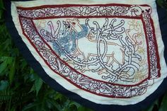 fabric banner in the weather-vane (Norse/ Viking) style