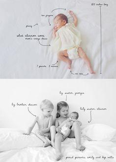 cute birth announcement idea