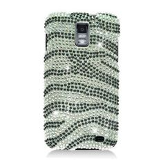 Amazon.com: Eagle Cell PDSAMI727F370 RingBling Brilliant Diamond Case for Samsung Galaxy S2 Skyrocket i727 - Retail Packaging - Black/Siver ...