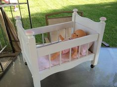 Magazine Rack To Baby Doll Crib