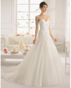 Srdíčko Elegantní & luxusní Bez rukávů Svatební šaty 2015