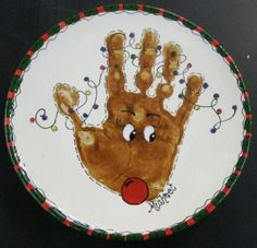 Hand and feet print Christmas crafts