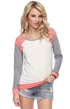 Nollie Long Sleeve Colorblock Raglan Top - got it! So comfy