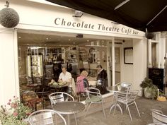 The Chocolate Theatre Cafe Bar in Windsor, England (photo by Sarah P Travels) Claim to fame: Best Hot Chocolate in the UK!