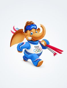 Olympic Mascots by Alina IVANOVA, via Behance
