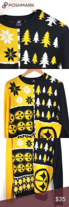 NFL Steelers Holiday Sweater Excellent: 9 out of 10 rating NFL Team Sports Sweaters