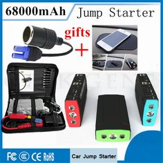 2017 Multi-Function 68000mAh Car Jump Starter Portable400A Peak Car Battery Charger 12V Starting Device Phone Laptops Power Bank