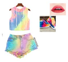 """""""I feeling like a rainbow just busted through my head"""" by savagesquad11 ❤ liked on Polyvore featuring Converse"""
