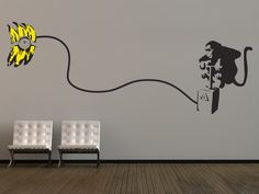 Large Banksy Monkey Bomb Wall Sticker from The Binary Box | Made By The Binary Box | £49.99 | Bouf