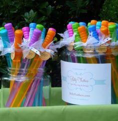 With rainbow ribbon