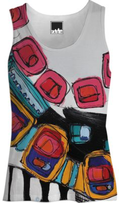 Shop On the Horns of a Dilemma Tank Top Women by helvi-smith Ropa Shabby Chic, Paint Shirts, T Shirt Painting, Hand Painted Fabric, Estilo Hippie, Painted Clothes, Clothing And Textile, Fashion Painting, Diy Fashion