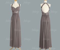 gray bridesmaid dresses gray prom dresses long by fitdesign, $119.00 WOULD BE BEAUTIFUL IN BLUSH PINK